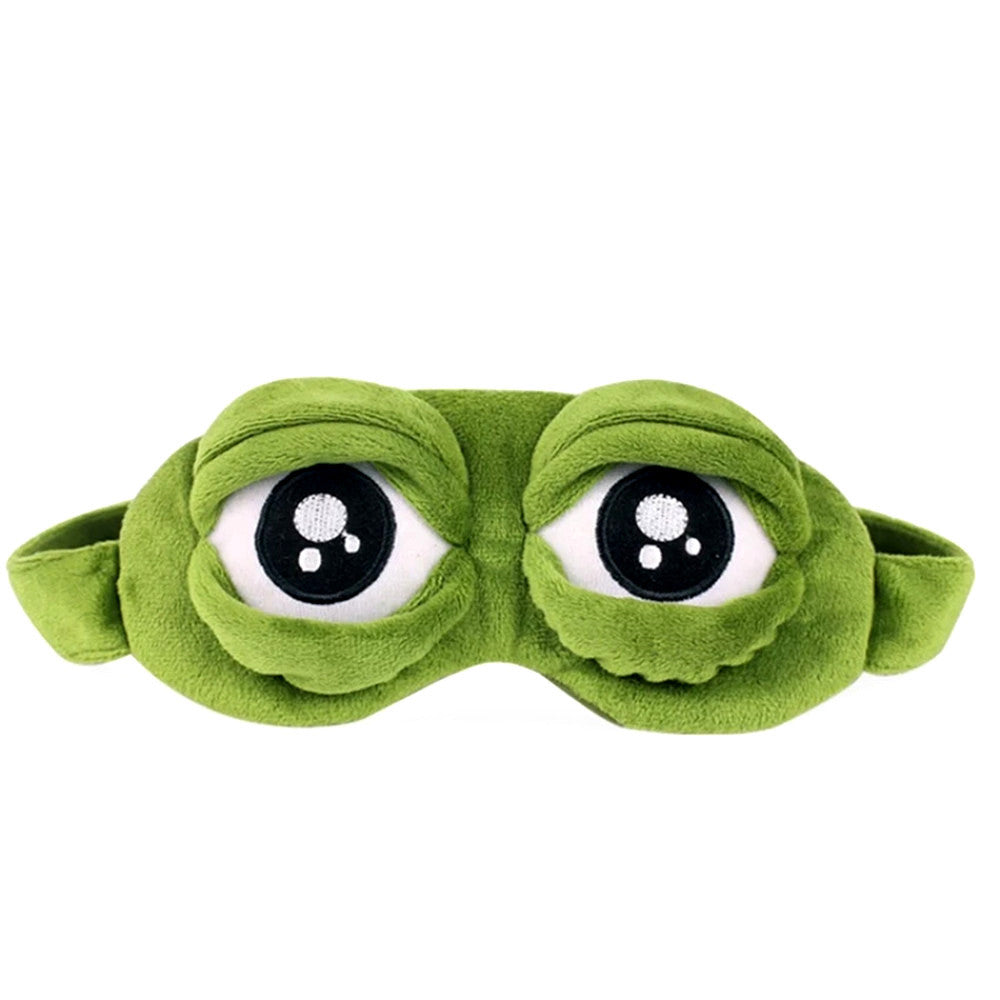 3D Sad Frog Sleep Mask Rest Travel Relax Sleeping Aid Blindfold - Feedfend - fistcase