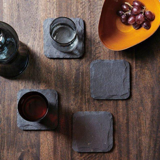 Slate Coaster Set (set of 4 pieces) - Feedfend - fistcase