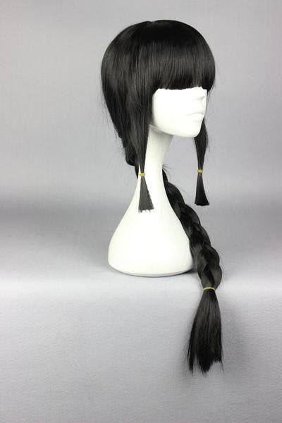 75CM Black With One Braid Kantai Collection KanColle-Akatsuki Cosplay Party Costume Full Wig Fashion Women Syle,Colorful Candy Colored synthetic Hair Extension Hair piece 1pc WIG-577J