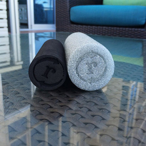 Twin Pack - Black & Gray Mini Foam Rollers  (Soft & Firm)