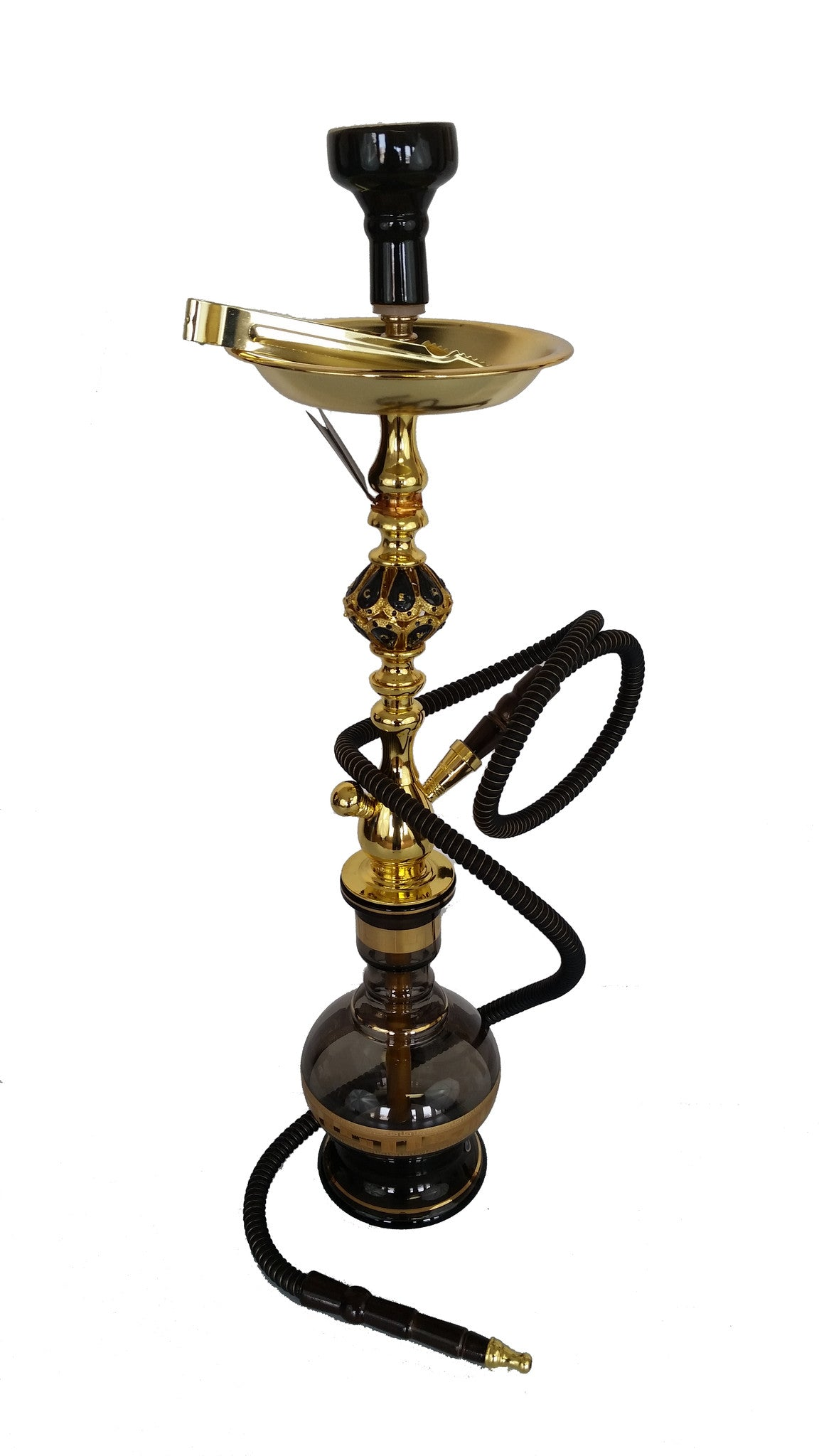 Black & Gold Bohemian Crystal Hookah