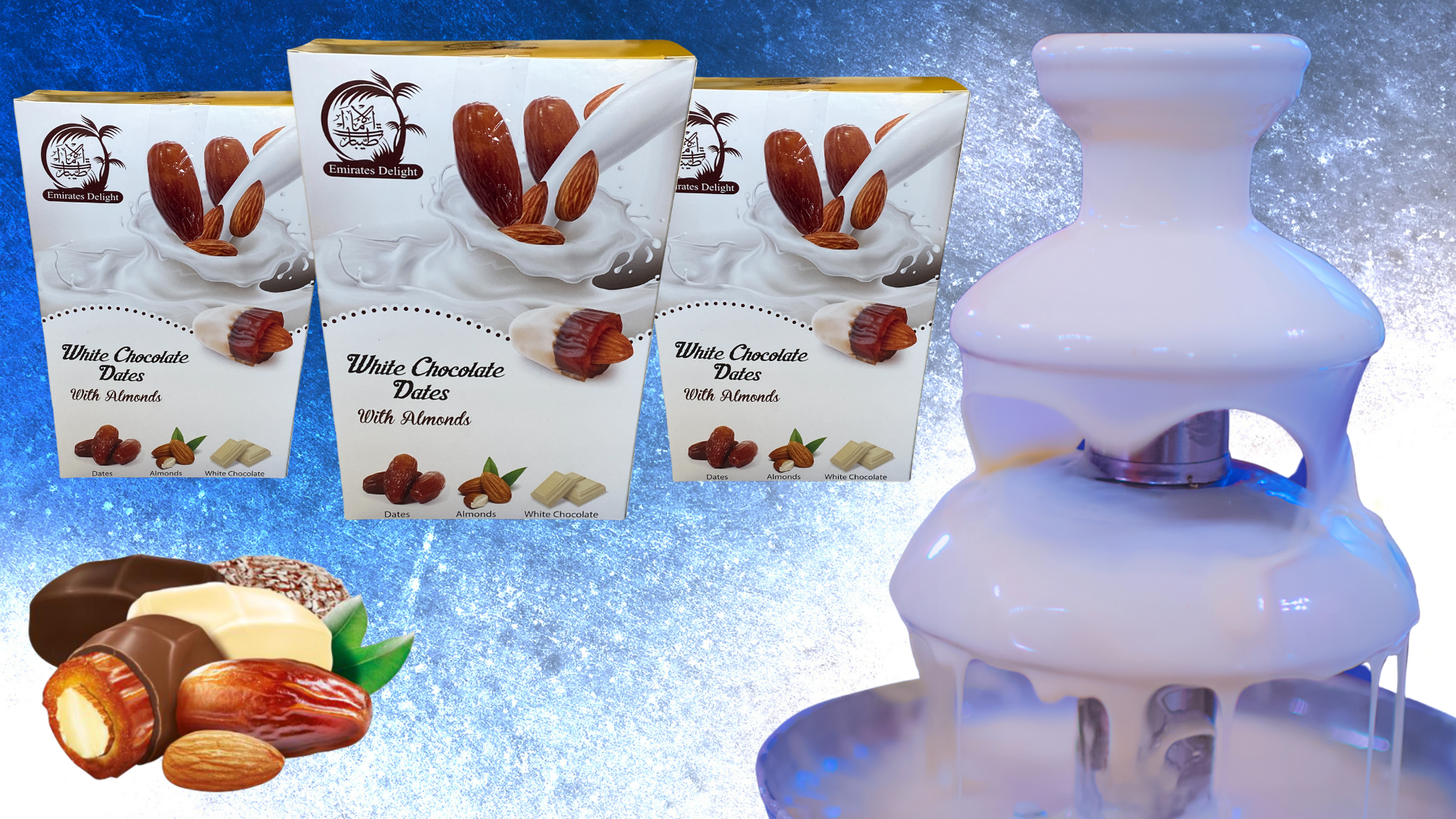 White Chocolate Medjoul Dates with Roasted Almond (454g)