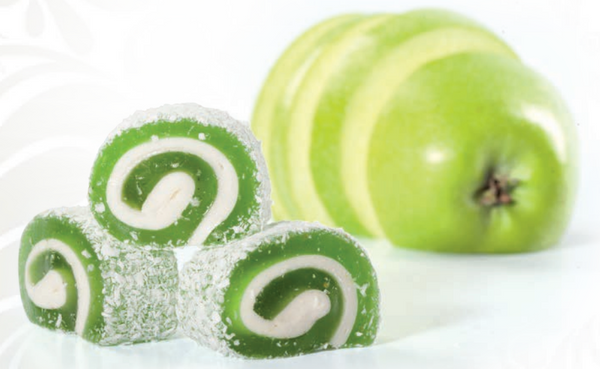 Green Apple Rolled Turkish Delight