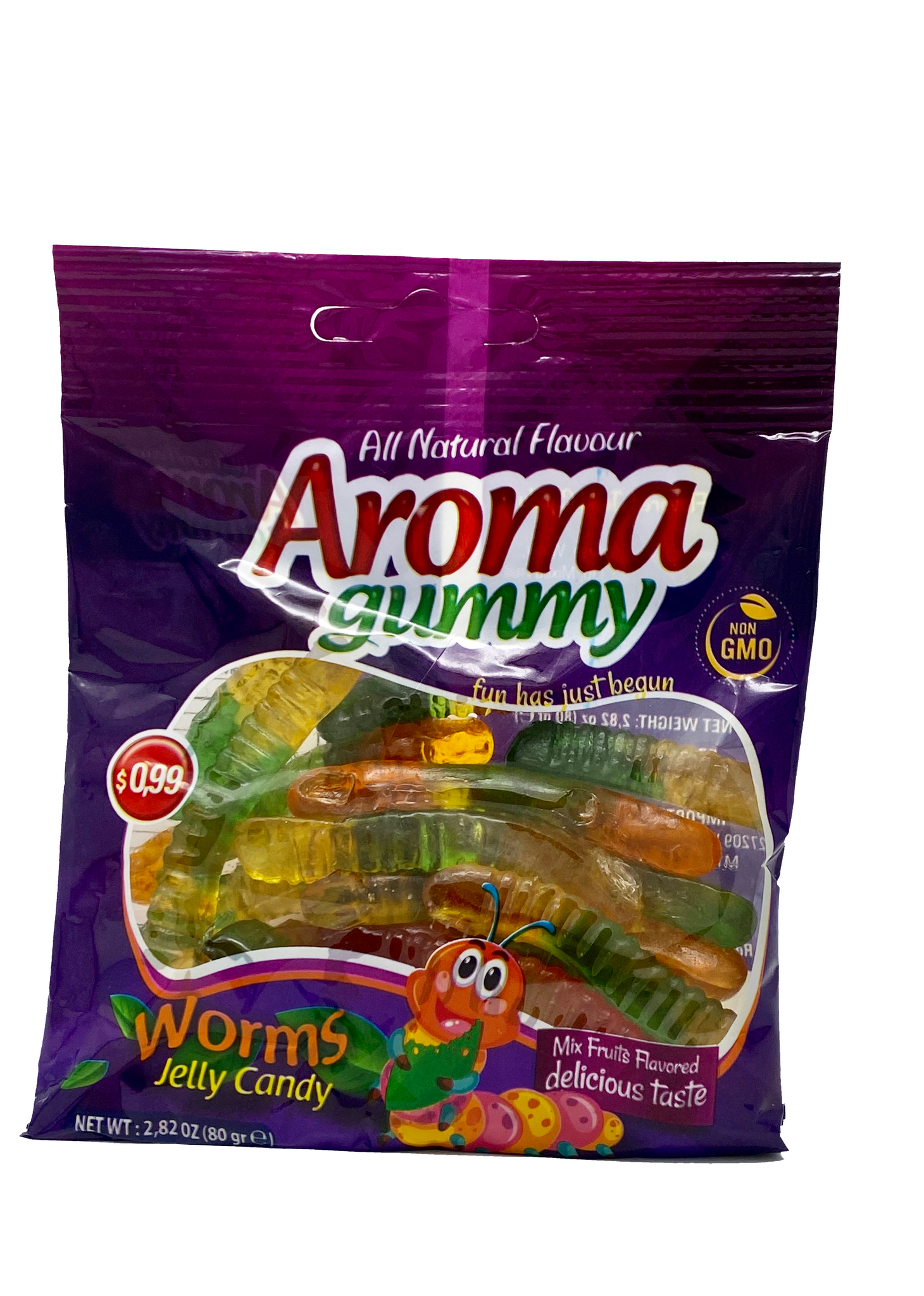 Aroma Halal Gummy Worms (3x80g) - Turkish Jole Gummi Candy