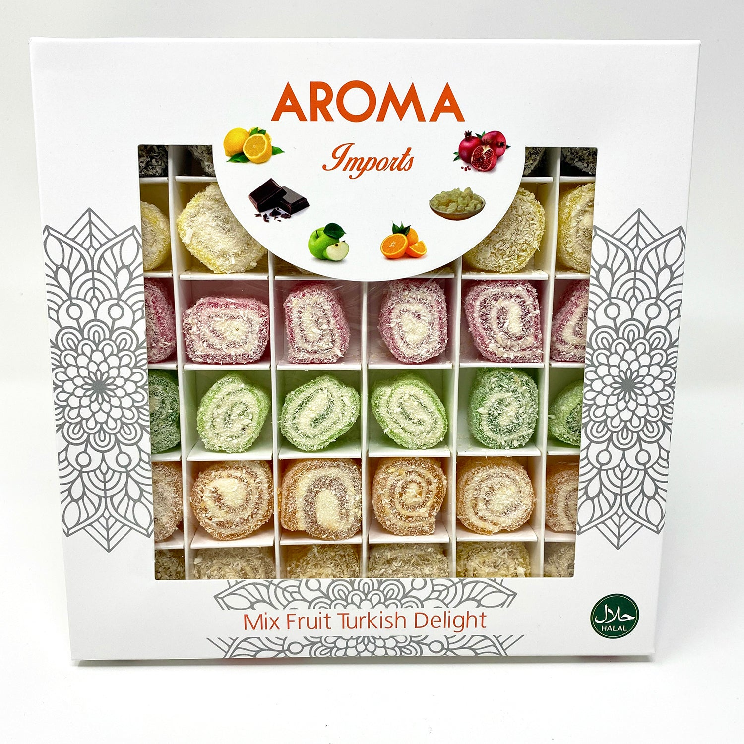 Mixed Fruit Turkish Delight - Aroma Imports
