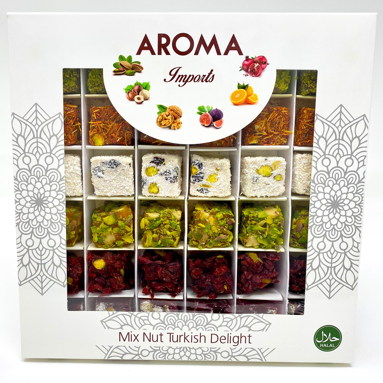 Mixed Nut Turkish Delight - Aroma Imports