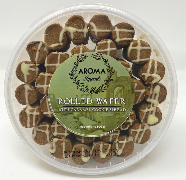 Caramel Rolled Wafer - Aroma Imports