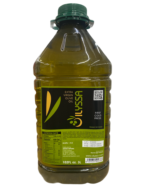 Oilyssa Extra Virgin Olive Oil 3L - Tunisian Cold Pressed - 3 Liter