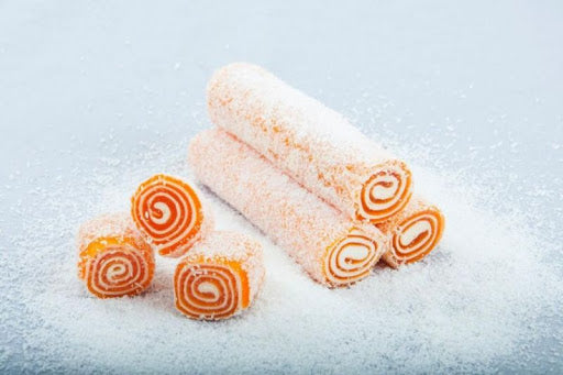 Orange Wrapped Turkish Delight with Marshmallow & Coconut