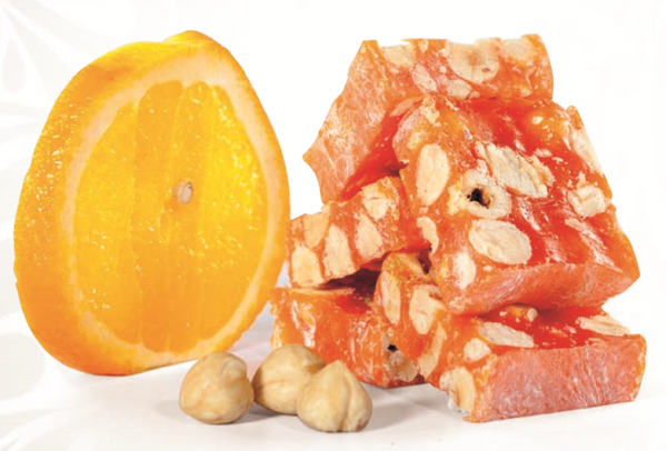 Orange and Hazelnut Turkish Delight