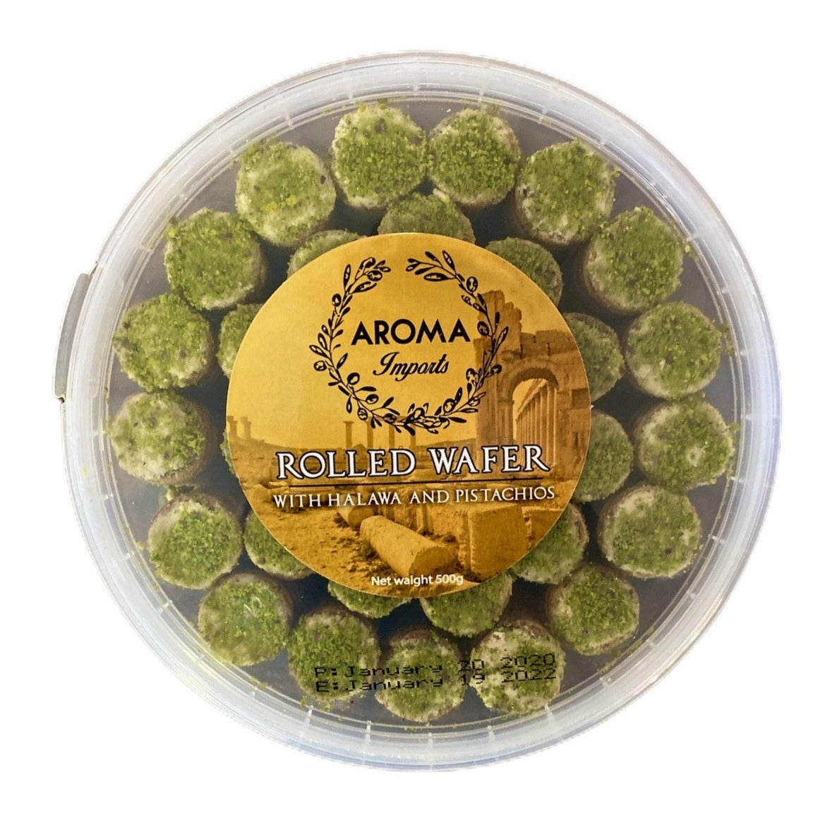 Halawa Rolled Wafer with Pistachio (500g)