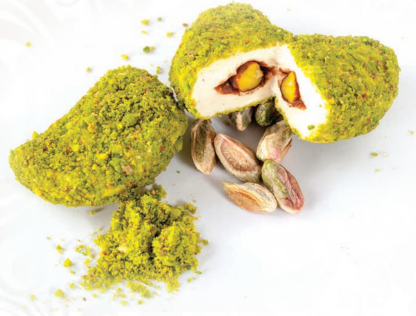 Pistachio Surprise Turkish Delight - Marshmallow with Chocolate and Pistachios