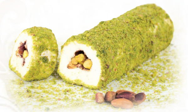 Pistachio Wrapping Turkish Delight - Marshmallow and Pistachio