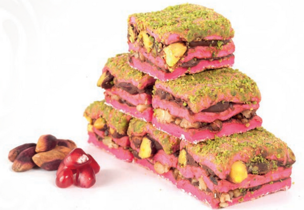 Pomegranate Sandwich Delight - Pomegranate / Chocolate / Marshmallow / Nuts