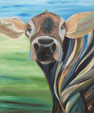 cow painting country