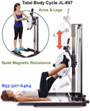 Accessible Recumbent Pedal Exerciser and Hand Cycle Combination - The Total Body Cycle JL-897
