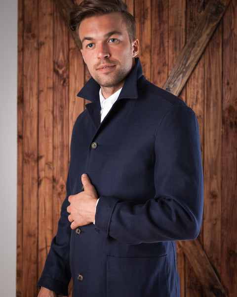Casual Navy Blue Blazer