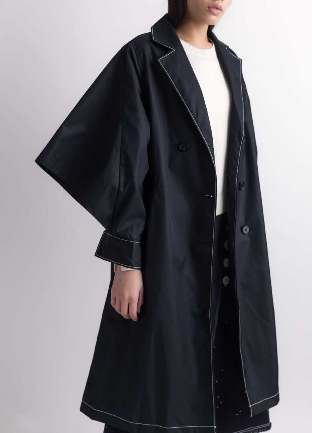 Dual-sleeves trench coat