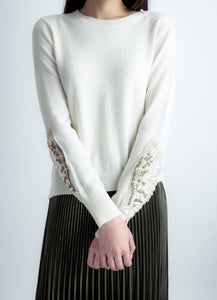 Winged cashmere sweater