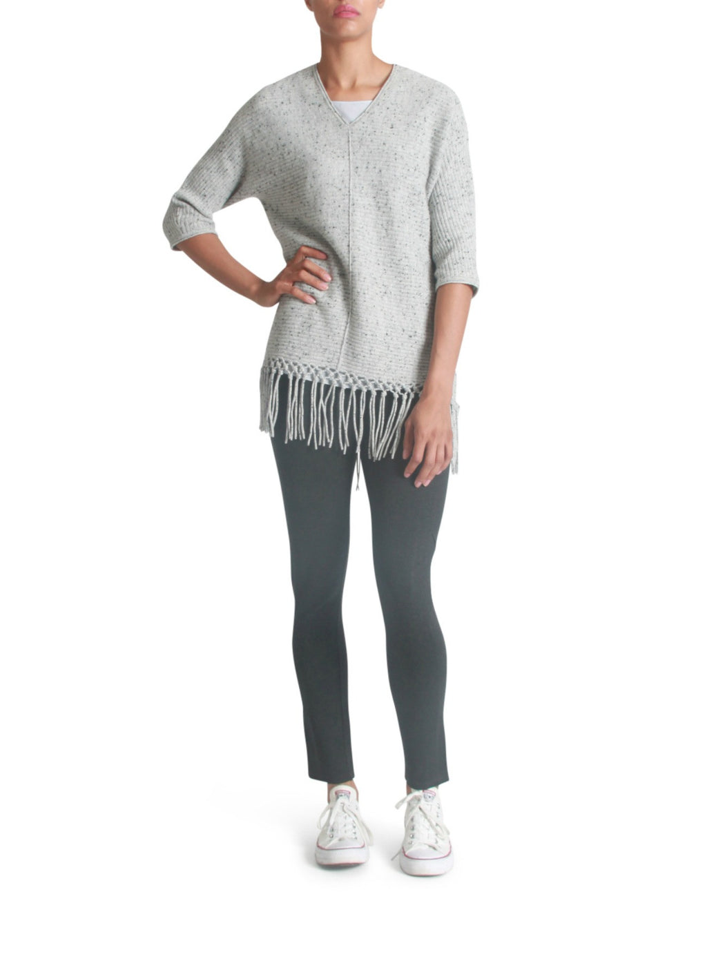 Fringed cashmere sweater