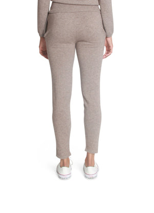 Stretch cashmere track pants