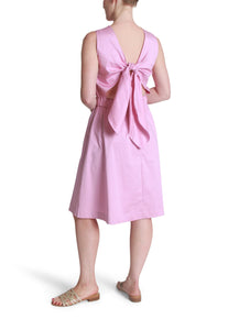 Poplin tie-back dress