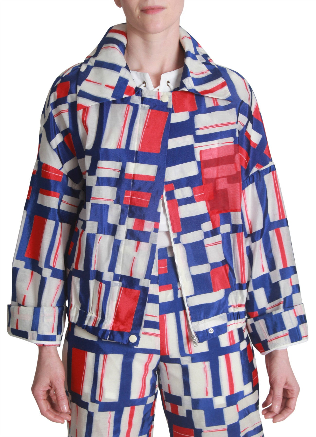 Graphic multi-print jacket
