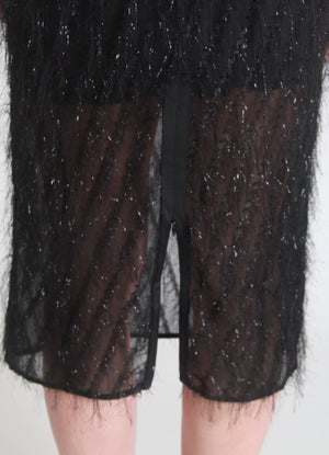 Embellished feather skirt