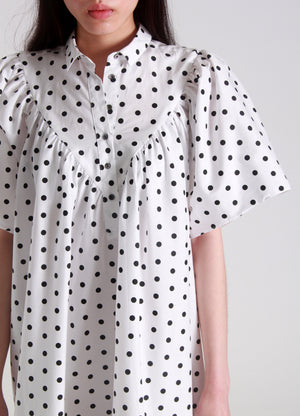 Polka dot oversized dress