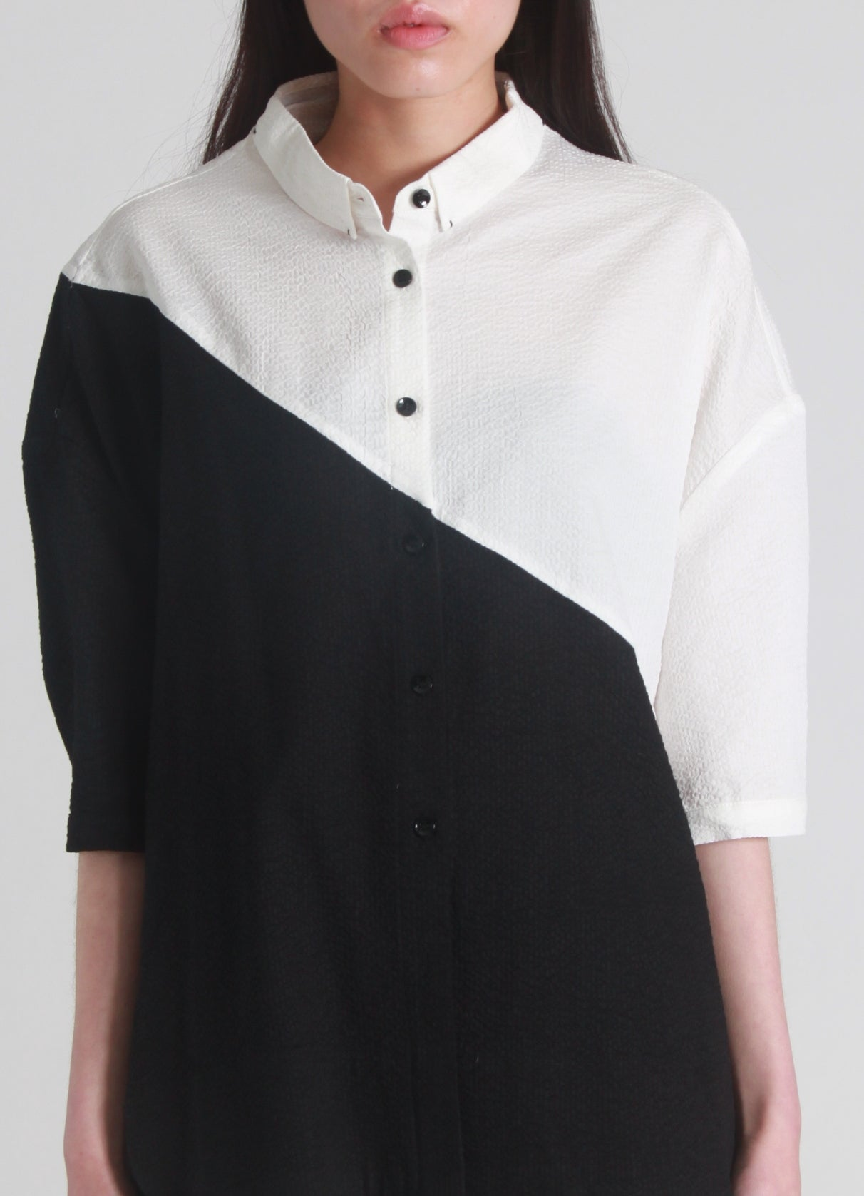 Geometric hammered shirt
