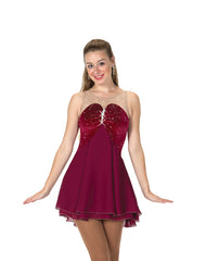 86 Claret & Crystals Dress