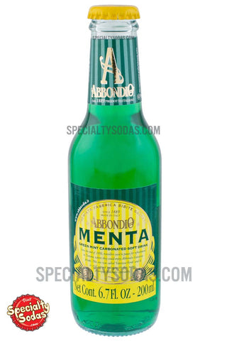Abbondio Menta Green Mint Carbonated Soft Drink 200ml Glass Bottle