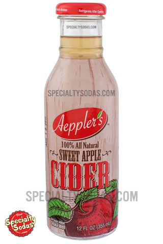 Aeppler's Sweet Apple Cider 12oz Glass Bottle