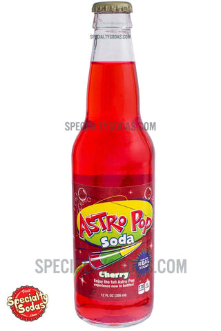 Astro Pop Cherry Soda 12oz Glass Bottle