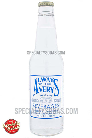 Avery's Raspberry Seltzer 12oz Glass Bottle