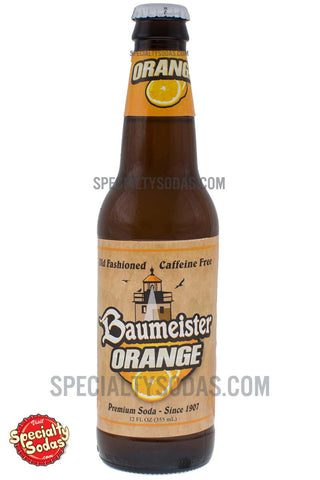 Baumeister Orange Soda 12oz Glass Bottle