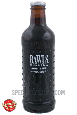 BAWLS Guarana Root Beer 10oz Glass Bottle