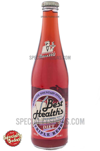 Best Health's Diet Triple Berry Soda 12oz Glass Bottle