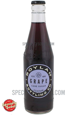 Boylan's Grape Soda 12oz Glass Bottle