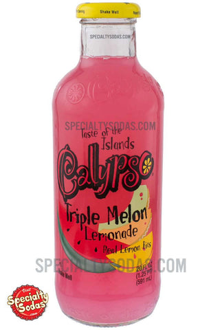 Calypso Triple Melon Lemonade 20oz Glass Bottle