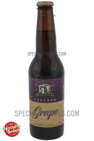 Caruso's Legacy Concord Grape Soda 12oz Glass Bottle