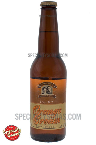 Caruso's Legacy Orange Cream Soda 12oz Glass Bottle