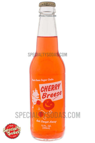 Cherry Breese Soda 12oz Glass Bottle