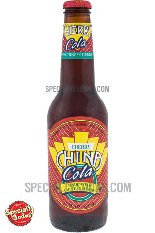 Cherry China Cola 12oz Glass Bottle