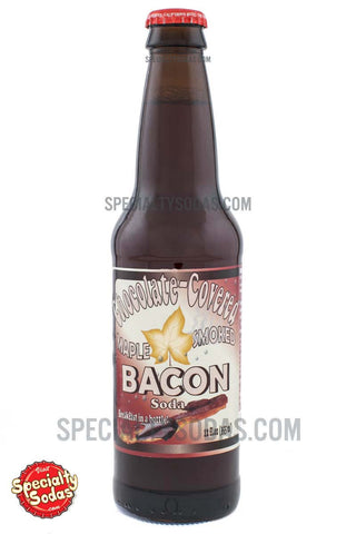 Chocolate Covered Maple Smoked Bacon Soda 12oz Glass Bottle