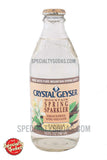 Crystal Geyser Mountain Spring Sparkler Vanilla Creme 10oz Glass Bottle