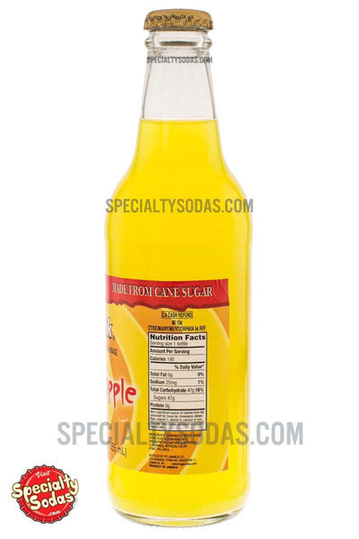 D Amp G Sof Drink Pineapple Carbonated Beverage 12oz Glass