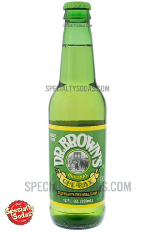 Dr. Brown's Cel-Ray Soda 12oz Glass Bottle