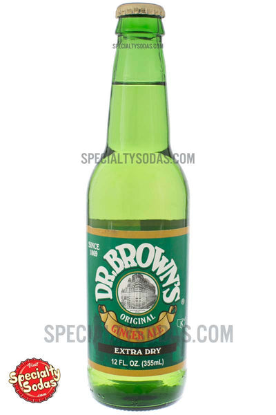 Dr Brown S Extra Dry Ginger Ale 12oz Glass Bottle