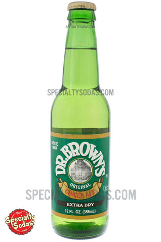 Dr. Brown's Extra Dry Ginger Ale 12oz Glass Bottle